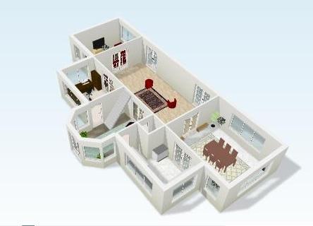 Plano arj erda for Construye tu casa en 3d