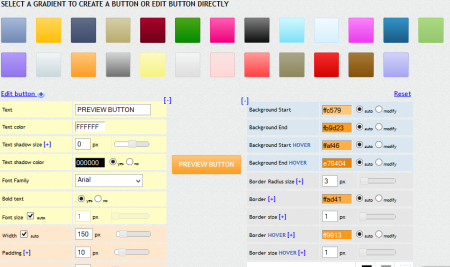 css gradient button
